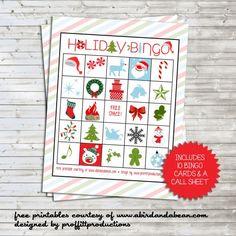holiday bingo FREE PRINTABLE!