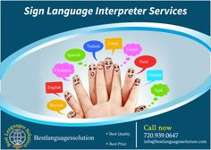 Language #Interpretation Services, #Spanish Interpreter Services, Certified Interpreter Visit: http://www.bestlanguagessolution.com/ Bestlanguagessolution will provide best #services to the customers, and becoming one of the best sign language #interpreter agency in #USA. We have highly skilled interpreters to help you in any sectors and any languages.