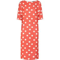 Callula Lillibelle Titatiana polka-dot poplin dress ($250) ❤ liked on Polyvore