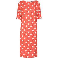 Callula Lillibelle Titatiana polka-dot poplin dress ($250) ❤ liked on Polyvore