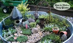 How to Make a Fairy Garden | http://thefrugalfind.com/make-fairy-garden/
