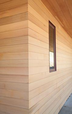 Shiplap outside corner stained pine reclaimed exterior for Reclaimed fir flooring seattle