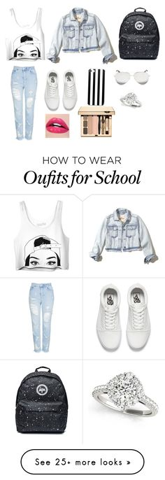 """Back to school #2"" by nononononpo on Polyvore featuring Topshop, Vans, Hollister Co. and Victoria Beckham"