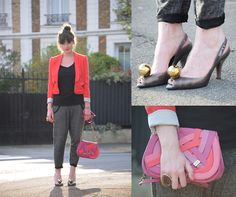 Violaine Olga Madeleine - H&M Jacket, By Zoé Pant, Fiorelli Bag, Vivienne Westwood Shoes Lady Dragon - Bien dans tes vêtements