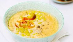 Kukuricová polievka s grilovanou paprikou Hummus, Cantaloupe, Soup, Pudding, Fruit, Ethnic Recipes, Desserts, Tailgate Desserts, Deserts
