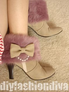 Japanese Princess Style Short Fur Boots Detail Tutorial