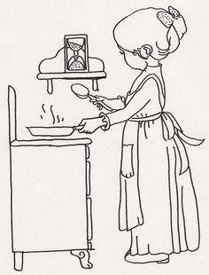Girl Timing Food w Hourglass by JenineMD, via Flickr