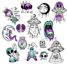 hippie tattoo 357121445455342400 - Source by lebricabracdemma Alien Tattoo, Kritzelei Tattoo, Doodle Tattoo, Doodle Art, Alien Drawings, Trippy Drawings, Tattoo Design Drawings, Art Drawings Sketches, Tattoo Sketches