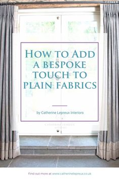 There are a lot of ways to elevate a plain fabric to the next level, but I believe that contrast or braid borders are best, especially when they reflect the main colour used in the room. Find out more on my blog! #HandmadeCurtains #HandmadeBlinds #Curtainmaker #SoftFurnishings #Trimmings #Braids #Pompoms #Beads #Tassels #ContrastBorders #Tiebacks