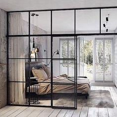 love the large windows as room dividers #interiordesignideas #largewindows