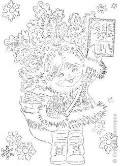 Картина панно рисунок Новый год Вырезание Вам письмо Бумага фото 8