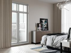 Single Bedroom Apartments Under 90sqm With Popping Blue Accents