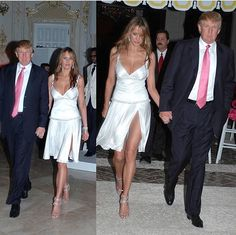 President Trump and First Lady Melania. I don't care how she dresses. I care that the republicans don't even lift an eyebrow while they were shocked when Michelle wore a sleeveless dress.