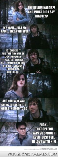No one could resist that speech. . . - MuggleNet Memes