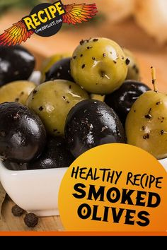 Smoked Olives Recipe. Try this easy smoker recipe for a smoked olives appetizer. It is so easy to make smoked olives, and they taste so yummy! The bonus is the olive oil also becomes smoked and is great for dipping crusty bread. Try this low carb recipe for a healthy snack! It is a great pellet grilling recipe for a simple BBQ appetizer. #smokedolives #lowcarb #pelletgrilling Bbq Appetizers, Appetizer Ideas, Pellet Grill Recipes, Smoker Recipes, Grilling Tips, Grilling Recipes, Vegetable Side Dishes, Vegetable Recipes, Healthy Snacks