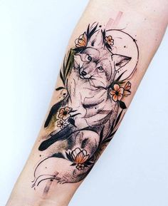 Image uploaded by Mone🐾💄🧜♀️. Find images and videos about art, cool and nature on We Heart It - the app to get lost in what you love. Mini Tattoos, Sexy Tattoos, Body Art Tattoos, Sleeve Tattoos, Tattoos For Women, Tattos, Fox Tattoo Design, Tattoo Designs, Tattoo Ideas