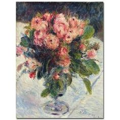 @Overstock - This gallery-wrapped art piece features a floral composition by artist Pierre Auguste Renoir. This giclee print on canvas is ready to hang.http://www.overstock.com/Home-Garden/Pierre-Auguste-Renoir-Moss-Roses-1890-Canvas-Art/6362519/product.html?CID=214117 $67.39