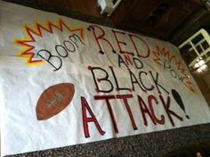 Red & Black Attack Run through sign