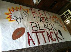Red & Black Attack Run through sign