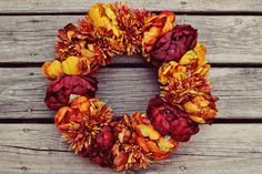 can't get enough of this autumn wreath!