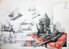 Subiecte – Page 3 – Vlad Bucur Interior Concept, Interior Design, Building Sketch, Page 3, Architecture Art, Art Sketches, Architectural Drawings, Diy, Sketchbooks