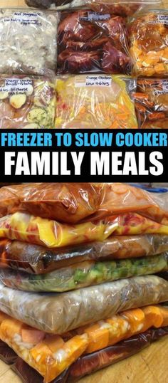 Prepping Crock Pot Freezer Meals + Recipe List Crockpot Meal Prep - 20 Family Meals in 2 Hours. Freezer to Crockpot Recipes.Crockpot Meal Prep - 20 Family Meals in 2 Hours. Freezer to Crockpot Recipes. Freezer Bag Meals, Crock Pot Freezer, Freezer Cooking, Freezer Recipes, Freezer Dinner, Chicken Freezer, Quick Crockpot Meals, Chicken Recipes, Easy Meals To Cook
