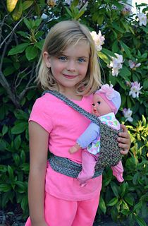 Danyel Pink Designs: Crochet Pattern - Babywearing Doll Carrier (Red Heart Cordial)