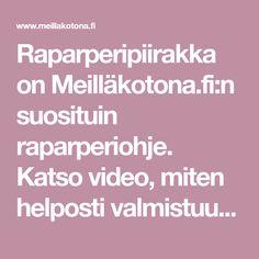 Raparperipiirakka on Meilläkotona.fi:n suosituin raparperiohje. Katso video, miten helposti valmistuu pellillinen mehevää raparperipiirakkaa!