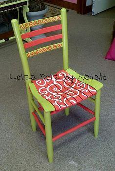 Han painted chair. www.facebook.com/lotzadotzbynatalie