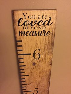 Growth Chart Ruler / Measuring Stick / Birthdays / Height Tracker / Kids/ Children Height Ruler / Personalized / Memories / Keepsake / Gift Wood Projects For Kids, Wooden Projects, Kids Wood, Vinyl Projects, Fun Projects, Wood Crafts, Diy Crafts, Height Ruler, Growth Chart Ruler