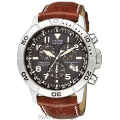 Citizen Eco-Drive Perpetual Calendar Chronograph Mens Watch (Brown leather coordination) Truly a work of art. - mens diamond watches, matte black watch mens, mens watches under 500 *ad Citizen Eco, Breitling, Bulova, Cool Watches, Watches For Men, Men's Watches, Wrist Watches, Jewelry Watches, Police Watches
