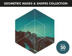 50 Digital Geometric Items