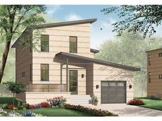 Eplans Contemporary-Modern House Plan - Two Bedroom Contemporary - 1784 Square Feet and 2 Bedrooms from Eplans - House Plan Code HWEPL65374