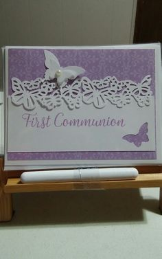 First Communion Cards, First Holy Communion, Butterfly Cards, Flower Cards, Confirmation Cards, Party Entertainment, Card Designs, Baby Cards, Dragonflies