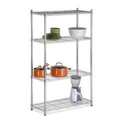 Honey-Can-Do SHF-01456 4-Tier Urban Shelving Adjustable Storage Shelving Unit Chrome Garage Organizers Shelving Units NULL
