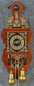 Mijn moeder haar oude Zaanse wall clock , hij hangt in de eetkamer.