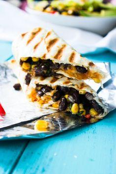 Crispy Black Bean and Rice Burritos - Gimme Delicious