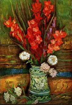 Vincent van Gogh Still Life with red gladioli painting is shipped worldwide,including stretched canvas and framed art.This Vincent van Gogh Still Life with red gladioli painting is available at custom size. Art Van, Vincent Van Gogh, Flores Van Gogh, Van Gogh Still Life, Van Gogh Arte, Van Gogh Pinturas, Artist Van Gogh, Van Gogh Paintings, Flower Paintings