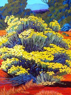Chimasa Blooms Gene Brown Acrylic on canvas