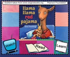 Anna Dewdney's Llama Llama Red Pajama has been selected for the 2011 Read for the Record Challenge. Read the story, interact, watch it being read by Anna herself, and complete a few fun activities. Llama Llama Red Pajama, Red Pajamas, Pajama Day, Interactive Stories, Learn To Read, Story Time, Fun Activities, Literature, Baseball Cards