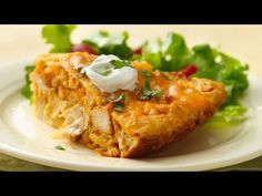 Impossibly Easy Chicken Taco Pie- no salsa so family will eat it. The great taste of chicken tacos baked in a pie. No, it's impossibly easy! Taco Pie Recipes, Bisquick Recipes, Mexican Food Recipes, Chicken Recipes, Cooking Recipes, Diet Recipes, Easy Recipes, Recipes Dinner, Entree Recipes
