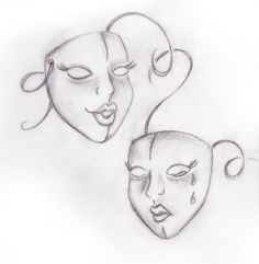 Drama Masks Comedy Tragedy Greek Theater Tattoo