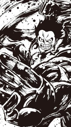 Luffy (one piece) One Piece Manga, One Piece Drawing, Luffy Gear Fourth, Luffy Gear 4, Anime Echii, Anime Love, Anime Art, Anime Tatoo, One Piece Figuras