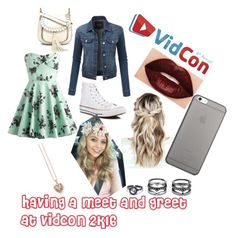 """#lorebeech vidcon 2k16"" by ashlynnd ❤ liked on Polyvore featuring LE3NO, Converse, Smashbox, Thomas Sabo, Native Union, LULUS and Chloé"