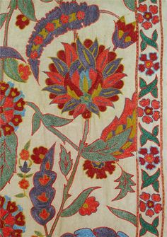 Auctiva Image Hosting Jacobean Embroidery, Zardozi Embroidery, Hand Embroidery Designs, Embroidery Patterns, Textile Patterns, Textile Design, Print Patterns, Fabric Painting, Fabric Art