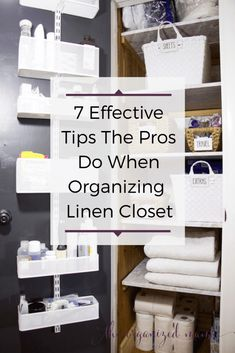7 Effective Tricks The Pros Use When Organizing Linen Closets - The Organized Mama Linen Closet Organization, Bathroom Organization, Organization Hacks, Organizing Ideas, Organizing Solutions, Clothing Organization, Decluttering Ideas, Home Design, Modern Interior Design