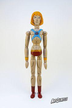 He-Man Art Doll - Masters of the Universe - Sculpture - Articulated Wooden Figure - Unusual Art - Original Pop Art - Hand painted