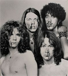This Thin Lizzie album cover would be the toughest ever.if they wore shirts - Thin-Lizzy-Fightin Brian Downey, Irish Rock, Thin Lizzy, Greatest Rock Bands, Charming Man, Live Band, Music Images, Rockn Roll, Band Posters