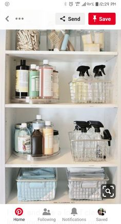 Bathroom Organization 66349 Organized Cleaning Supplies - Storage solutions for your products - Clean Mama Linen Closet Organization, Bathroom Organisation, Bathroom Storage, Kitchen Organization, Organize Bathroom Closet, Storage Organization, Diy Storage, Organized Bathroom, Cleaning Cupboard Organisation