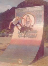 Luciano Fischer na Rampa da GLEDSON Barra Sul da cidade de Balneário Camboriú em Santa catarina 1979